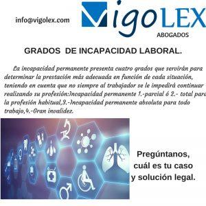 GRADOS DE INCAPACIDAD
